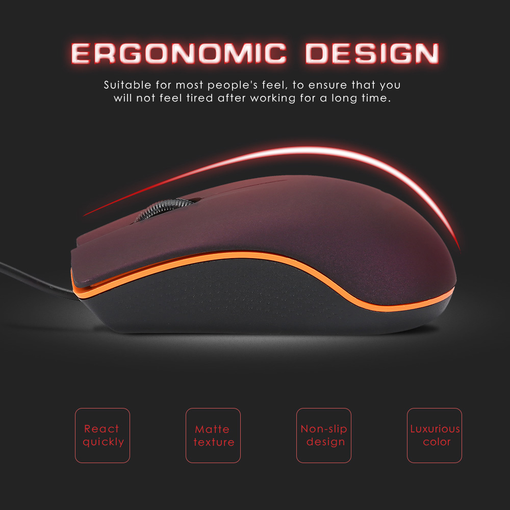 Mini M20 Wired Mouse 1200DPI Optical USB 2.0 Pro Gaming Mouse Optical Mice Frosted Surface For Computer PC Laptop