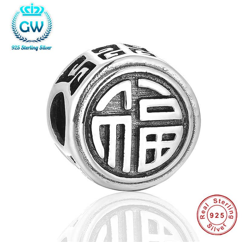 Подвеска на удачу для Будды из серебра 925 пробы, подвеска-эссенция, 925 Оригинальный Змеиный браслет-цепочка в китайском стиле, ювелирные изделия «сделай сам» для женщин