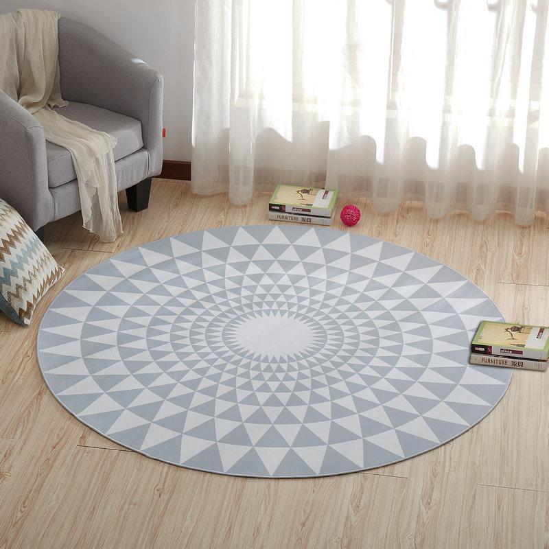 Круглый ковер, коврик для двери, современные ковры для гостиной, ковер для спальни, Противоскользящий коврик для пола, домашний текстиль - Цвет: Color D
