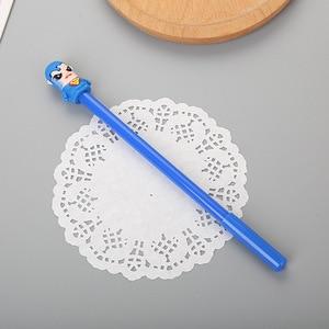Image 3 - Bolígrafo Neutral de silicona con cabeza de silicona de la Liga de Leyendas, para estudiantes, dibujos animados, firma de personajes de dibujos animados, 40 Uds.