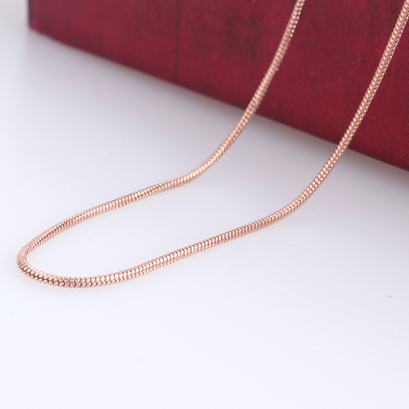 1mm width rose gold link chains length 45cm 316L Stainless steel Necklace for men women wholesale jewelry