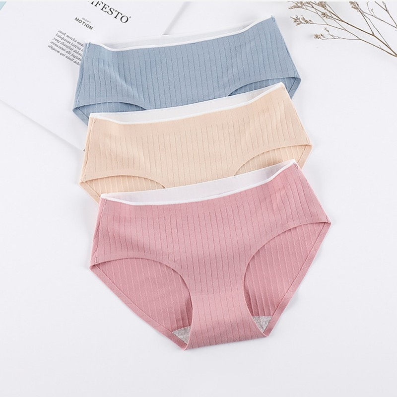 Women's panties Solid Color Breathable Stretchy Seamless Underwear Panties string sexy femme erotique sous vetement femme