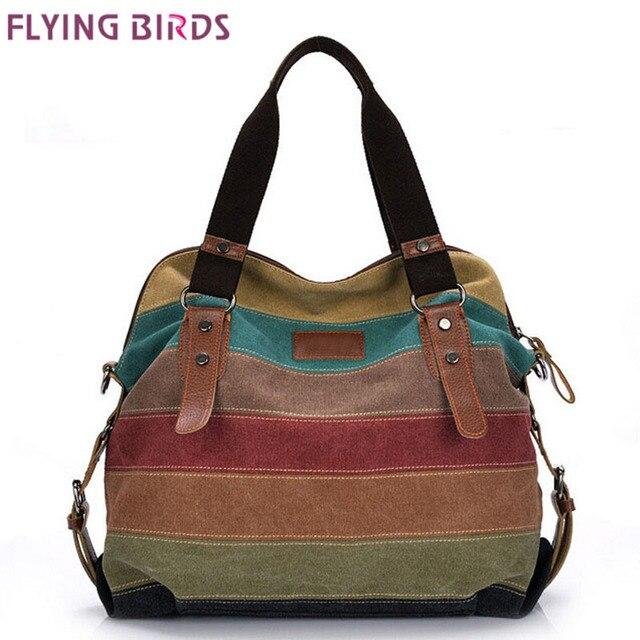 FLYING BIRDS! women handbag famous brand women canvas bags shoulder Messenger Bag cool lady women's pouch bolsas LS1978