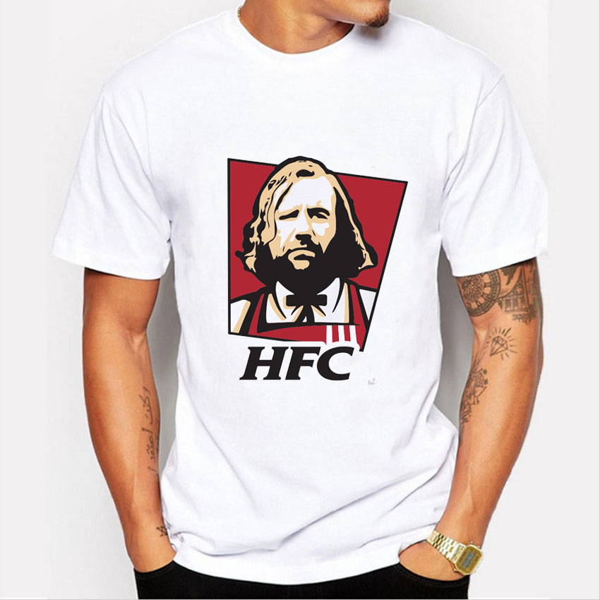 Newest 2016 Fashion Uncle Sam HFC Print T-shirt Summer Casual Tee Shirts Hipster O-neck Tops Men T Shirt