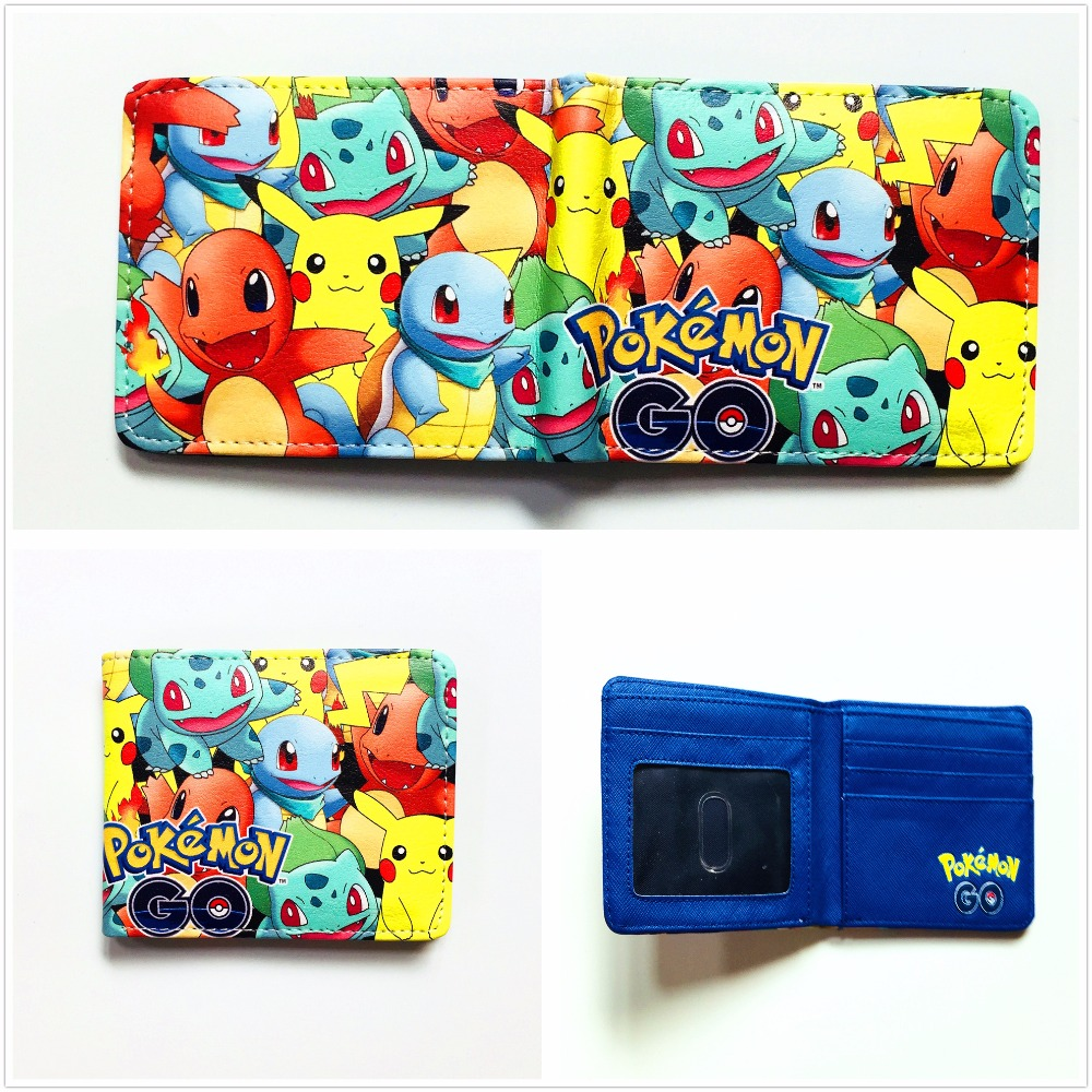 Pokemon Go Bifold Wallet Cosplay short Purse Anime Leather PU wallet