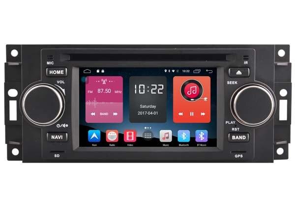 Quad core android 6.0 4g lite Voiture Lecteur DVD pour Chrysler 300C PT Cruiser Dodge Ram Jeep Grand Cherokee tête unités magnétophone