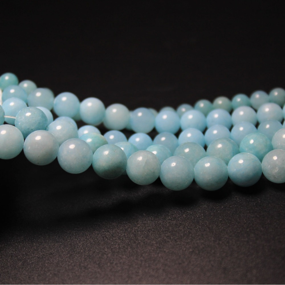 Natural Stone Wholesale Dyed Blue Amazon Round Beads 4mm 6mm 8mm 10mm...