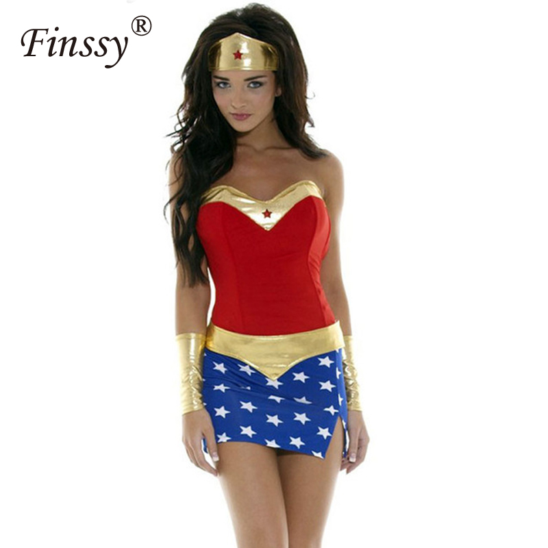 Wonder Woman Cosplay Costumes Halloween Funny Clothes Very Perfect Gift For Women ...