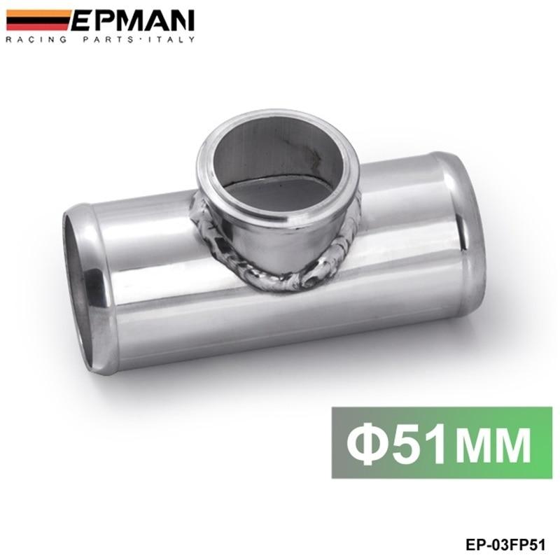 цена на Aluminium blow off valve adapter T pipe fitting 51mm 2