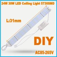Hot 24W LED Ceiling Lights Retrofit Lamps SMD 5730 LED Light Bar Replace The Old
