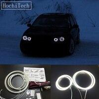 HochiTech Ultra bright SMD white LED angel eyes 12V halo ring kit daytime running light DRL for Volkswagen VW golf 4 1998 2004