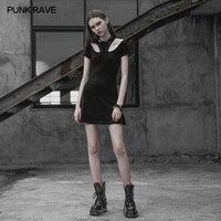 PUNK RAVE Women Gothic Lolita Black Dress Fashion Cotton Punk Women Dress Sexy Club Wear Mini Women Dresses