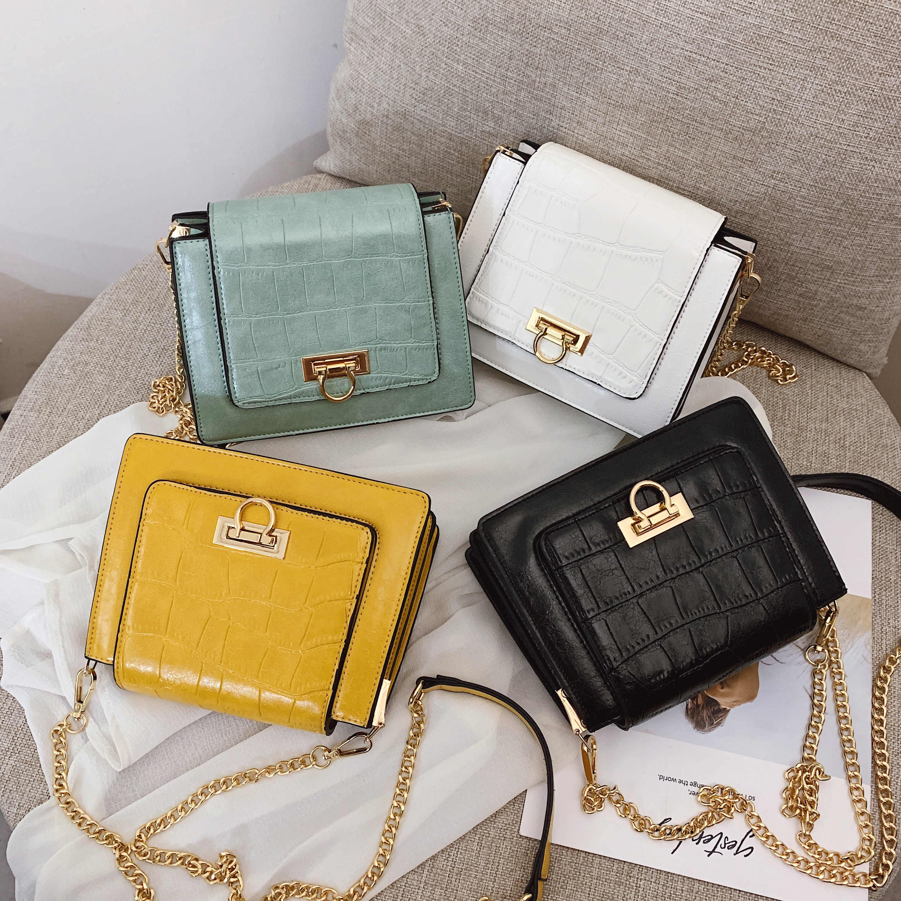 90ee8cad42d Luxury Design Stone Pattern PU Leather Crossbody Bags For Women 2019 Small  Shoulder Messenger Bag Travel Purses and Handbags