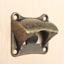 Vintage, traditional wall-mounted bronze beer bottle opener