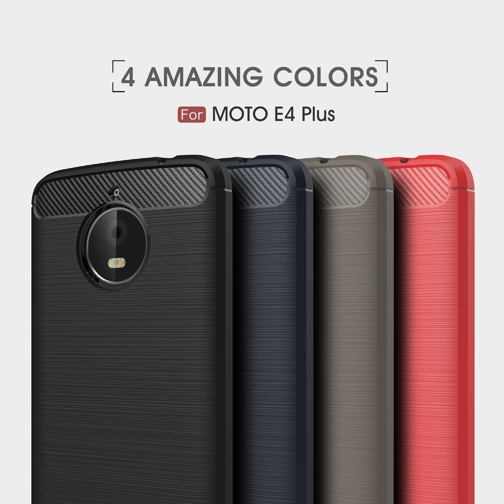 motorola e4 plus case. byheyang for motorola moto e4 plus case carbon fiber soft silicone cover shockproof slim protection phone shell plus-in fitted cases from
