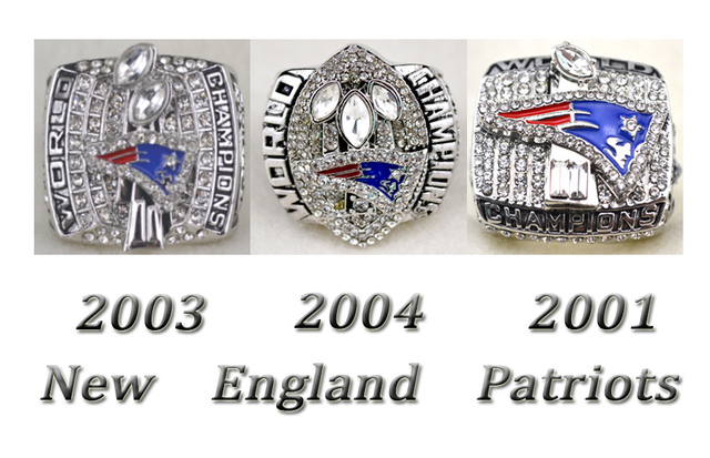 2001 2003 2004 New England Patriots Super Bowl replic championship rings US  Size 11 on sale 2151179dabf
