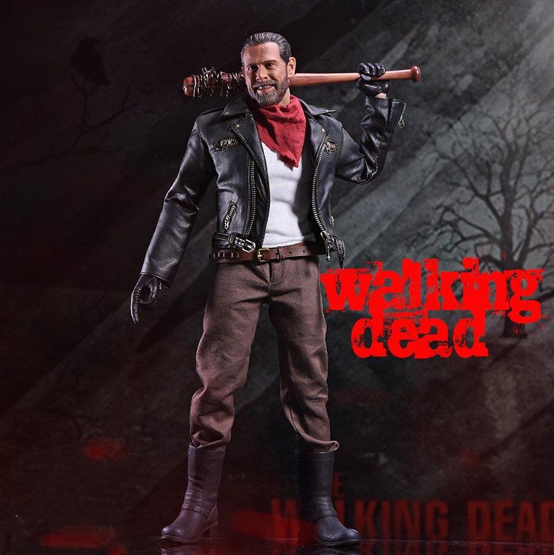 1//6 Negan head The Walking Dead Jeffrey Dean Morgan for hot toys Phicen USA