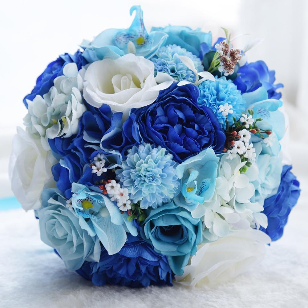 24cm Artificial Simulation Flower Wedding Bouquet Romantic