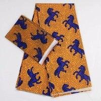 horse ankara fabric african prints silk satin fabric wedding dress fabric 2019 nigerian macthing 2yards chiffon ankara dashiki