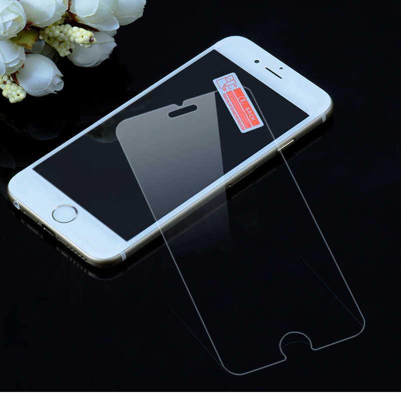2.5D 9H กระจกนิรภัยสำหรับ iPhone X 8 7 6S 6 Plus 11 11pro MAX XR XS MAX 5 5S 4S SE Ultra-thin Screen Protector