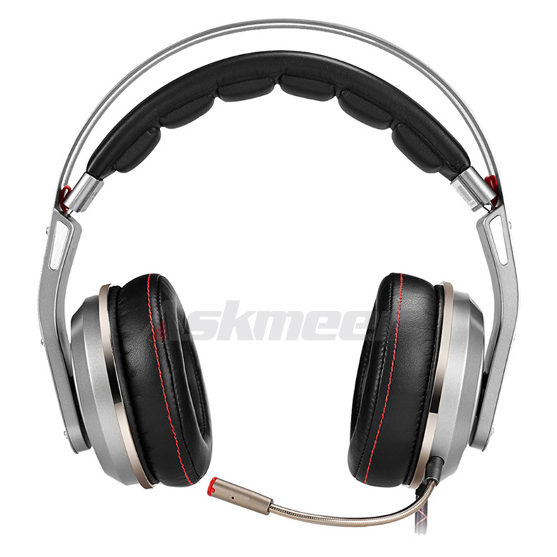 USB Gaming Headphones with Micrphone 7.1 Surround Sound Stereo Glowing Headset (5)