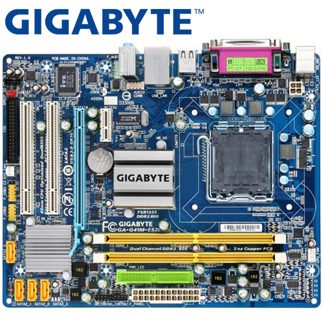 GIGABYTE GA-G41M-ES2L Desktop Motherboard G41 Socket LGA 775 For Core 2 DDR2 8G Micro ATX Original UsedGIGABYTE GA-G41M-ES2L Desktop Motherboard G41 Socket LGA 775 For Core 2 DDR2 8G Micro ATX Original Used