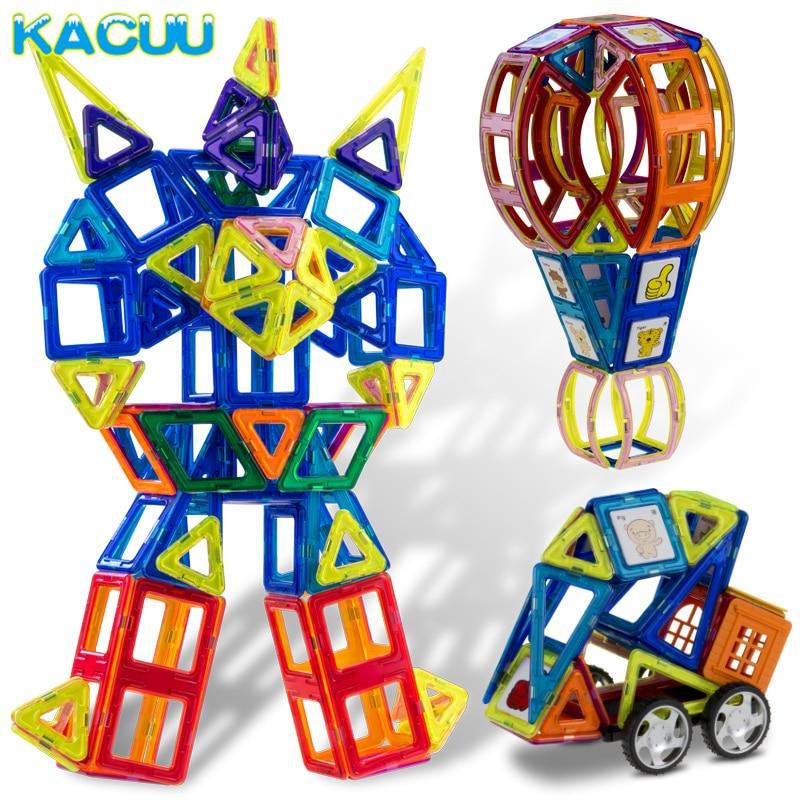 150 Stks Big Size Constructies Magnetische Blokken 3d Diy Speelgoed Met Dier & Auto-styling Educatief Spel Speelgoed Voor Kinderen