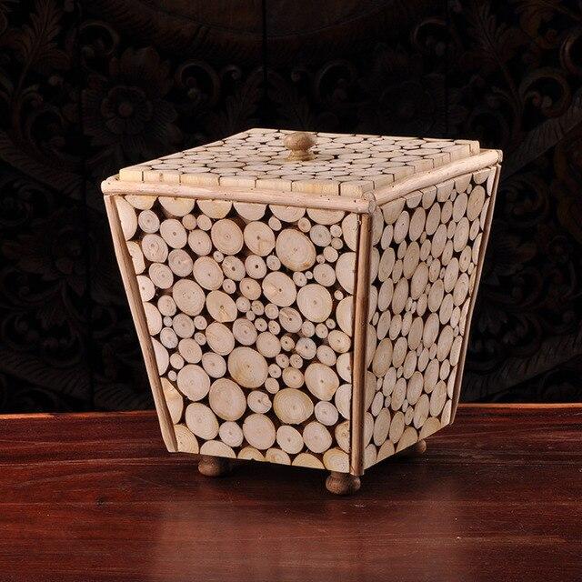 Tailandia artesanía de madera troncos de madera blanca y luego ...