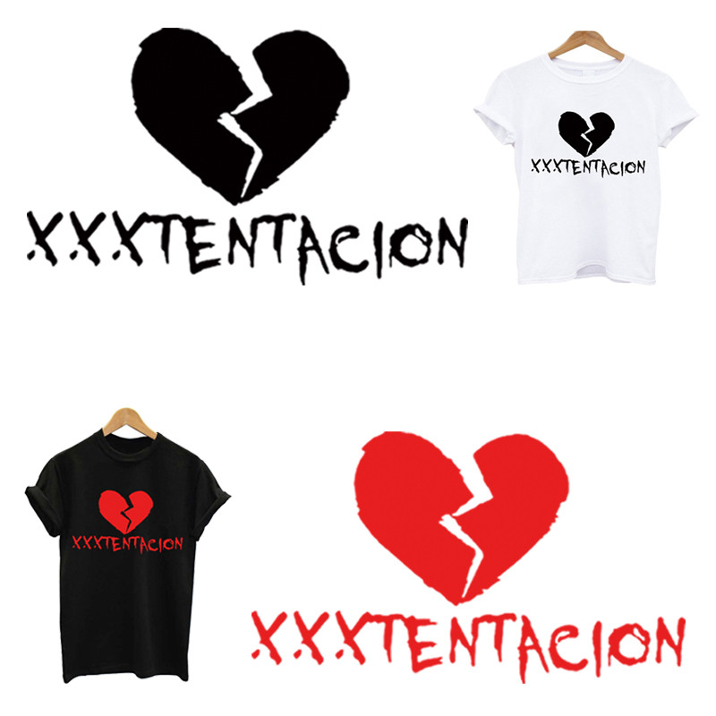 XXXTENTACION Patch Stripes On Clothes Stickers Iron On Patches Application Of One Ironing Printing For Clothing Applique Stripe