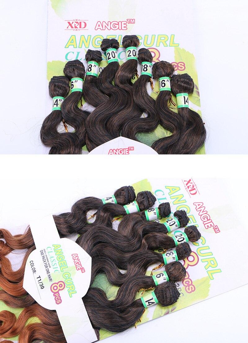 extensões de cabelo 8 unidades pacote (1 pacote completo uma cabeça)