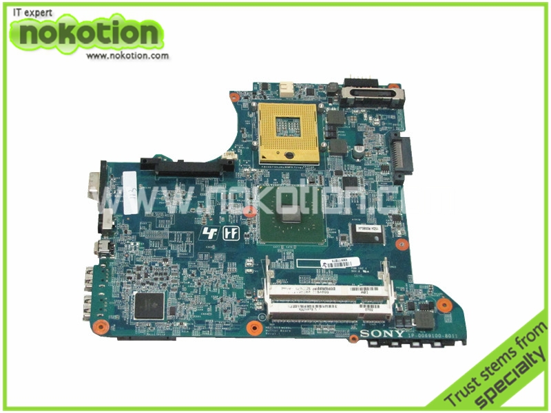 Laptop motherboard for Sony Vaio VGN-C A1219538A A1244753A MBX-163 REV 1.1 945GM DDR2 Mother Board Free Shipping laptop bottom case for sony vgn fw355j vgn fw378j 013 000a 8129 a