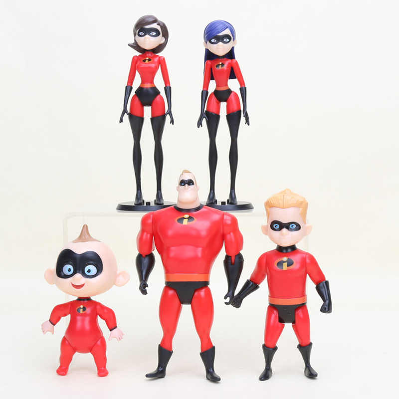 2 รูปแบบIncredibles 2 นายIncredibles Dash Parr Jack Parr Elastigirl PVC Action Figureของเล่นน่ารัก