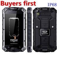 Chinh phục S6 MTK6753 Octa Lõi IP68 CHỐNG Thấm Nước điện thoại thông minh Vân Tay android 6.0 3 GB RAM 32 GB ROM NFC OTG 4 Gam 13MP di động điện thoại