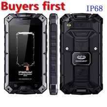 Conquest S6 MTK6753 Octa Core IP68 Waterproof smartphone Fingerprint android 6.0 3GB RAM  32GB ROM NFC OTG 4G 13MP mobile phone