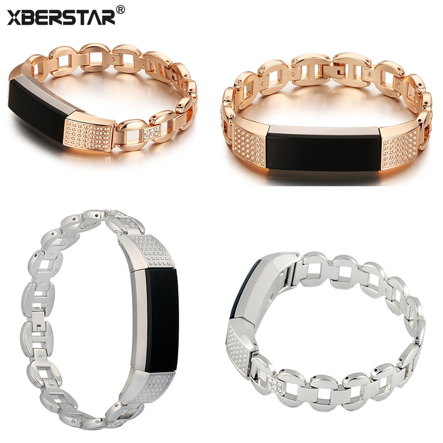 Watchband For Fitbit Alta Metal Bands Stylish Accessory Replacement Steel Bands & Easy Lock lnop nylon rope survival strap for fitbit alta alta hr replacement band bracelet wristband watchband strap for fitbit alta