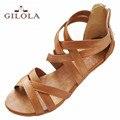 Gilola tamanho 34-43 novas mulheres planas sandálias mulheres apartamentos sapatos de verão sapatos de melhor qualidade # y0508616f