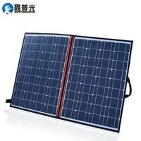 Xinpuguang 120W 2*60W 18V foldable solar panel 100W charger mono cell + 12V 24V 10A volt controller + blanket folding bag