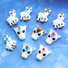 Unicorn Charms for Slime DIY Candy Polymer Bead Filler Addition Slime Accessories Toys Lizun Modeling Clay Kit for Kids Toys E