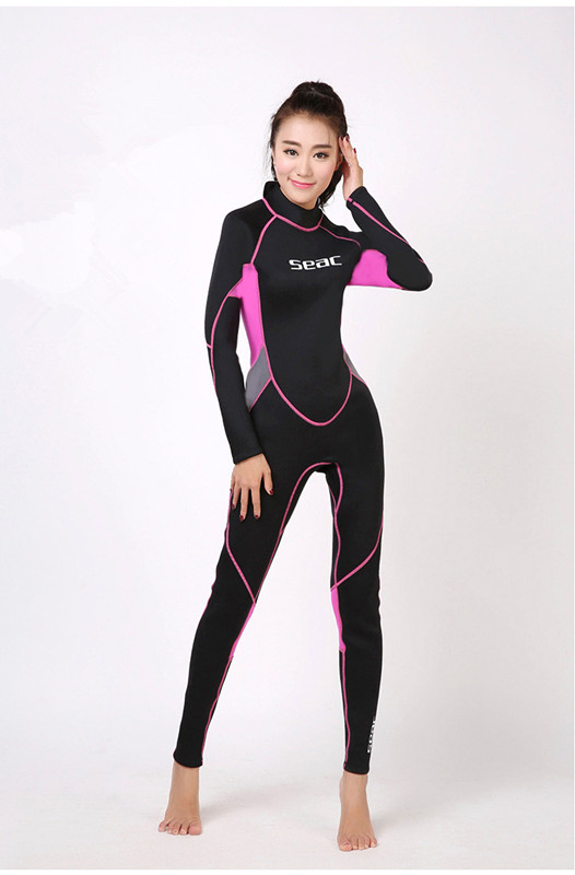Фотография 2.5MM Long-sleeved Warm Winter Neoprene Snokling Outdoor Swimming DivingSuit Full Body Water Sport Jumpsuit Spearfishing Wetsuit