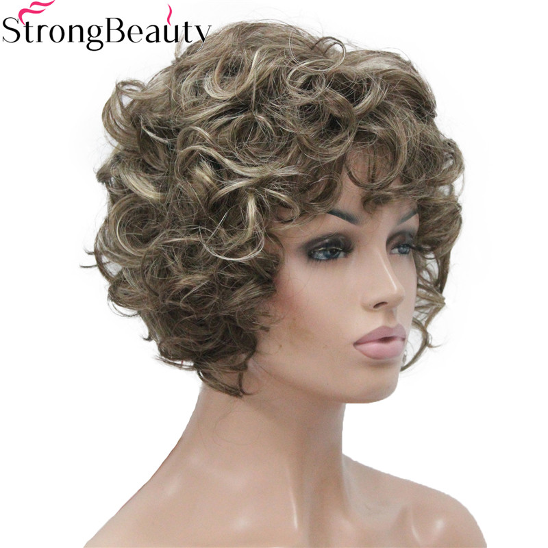Image 2 - Strong Beauty Short Curly Wigs Synthetic Hair Capless Women WigSynthetic None-Lace  Wigs   -