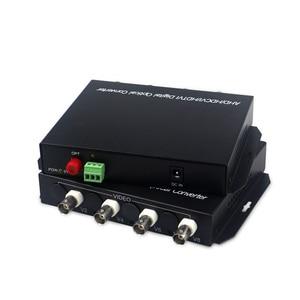 Image 1 - 1080P HD video AHD CVI TVI Fiber optische converter, 4 CH HD Video met RS485 1080p cvi ahd glasvezel naar coax converter
