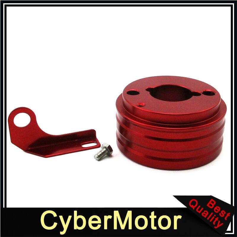 Red Air Filter Adapter For 6.5HP Honda Clone GX160 GX200 Engine Go Kart Cart