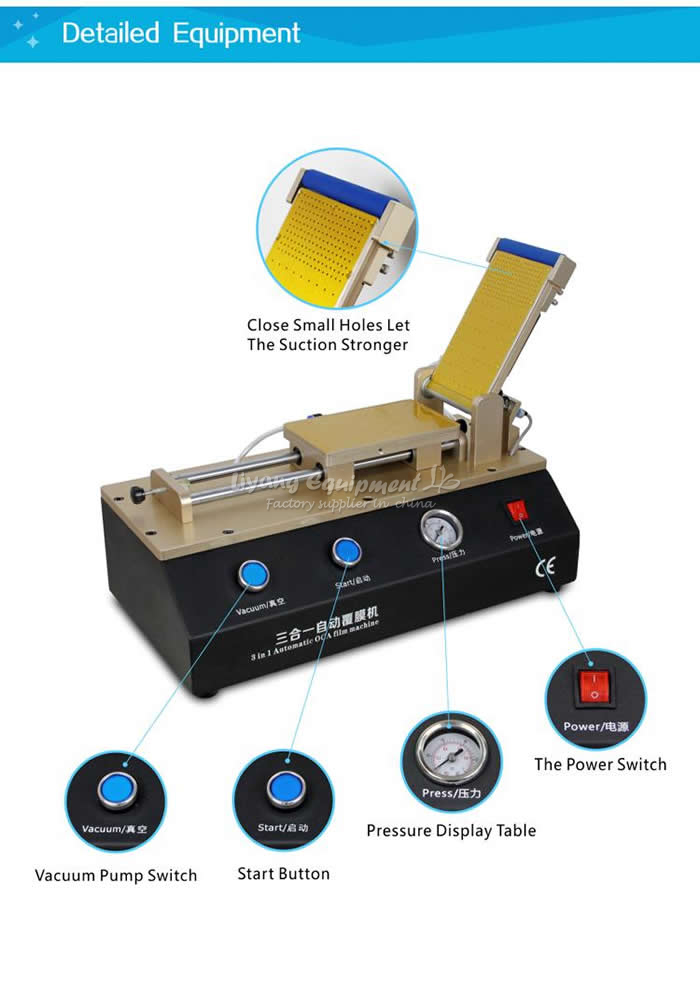 Купить с кэшбэком OCA film laminator LY 973 Build in pump for phone lcd repair tool