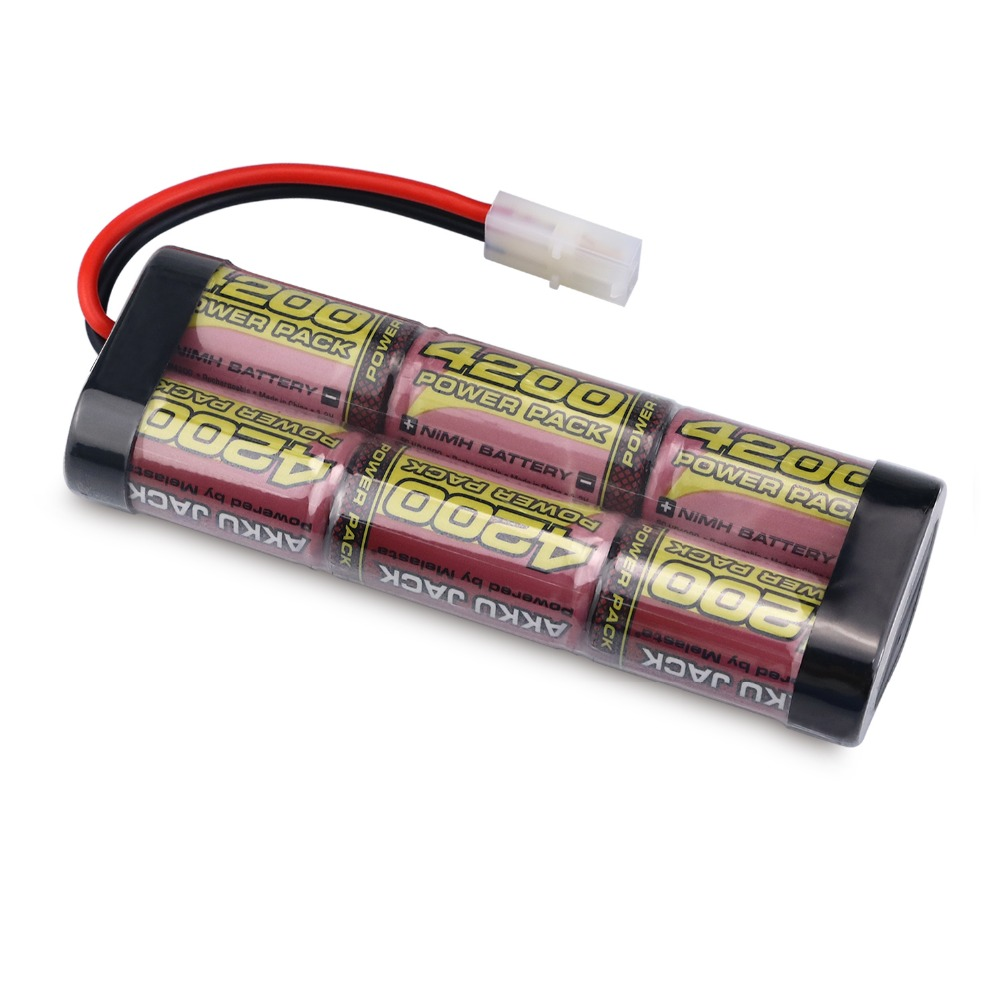 MELASTA 7.2V 4200mAh 6-Cells NIMH Battery Pack with Tamiya Connector for RC Racing Cars nvision 7 2в 3500мач nimh разъем tamiya