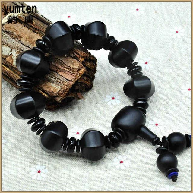 Yumten Chinese Lucky Agate Love Charms Bracelet Pulseira Masculina Berloque Natural Garnet Bracelet Gift Bracelet Manchette