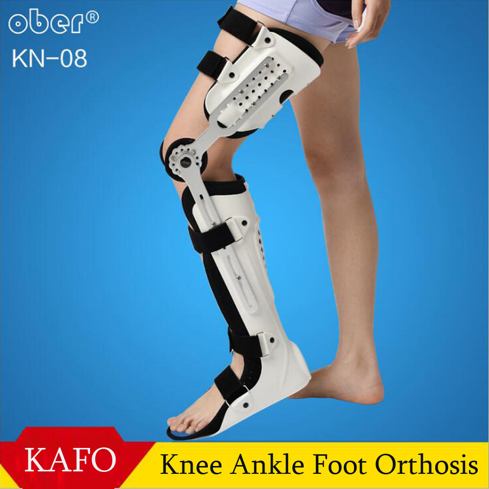 Knee Ankle Foot Orthosis KAFO Brace Fixed Rigid Thigh Knee Joint Ankle Foot Spport And Ankle Fixator Leg Orthotics free shipping foot drop leashes ankle footdrop orthosis man woman foot drop orthotics leashes summer foot ankle orthosis cheap