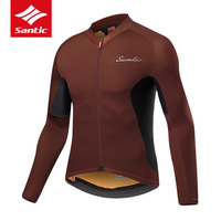 Santic TOP Cycling Jersey Men Long Sleeve Pro Team Mountain Road Bike Jersey Spring Autumn Bicycle Jersey Clothes Ropa Ciclismo