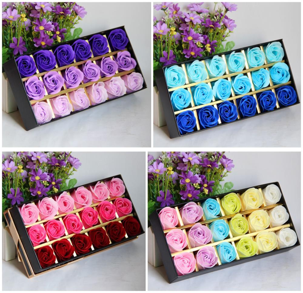 Gift Ideas 18 Rose Soap Flower Gift Birthday Gift To Send Lady Wedding Decoration Wedding