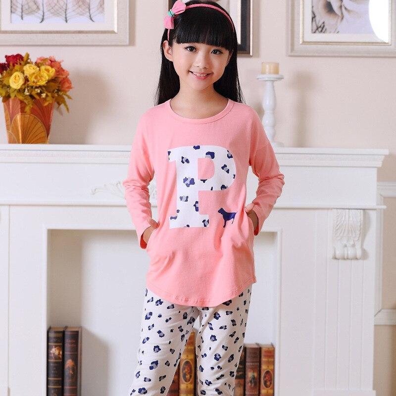 Aliexpress.com : Buy Korean little girls pyjamas letter P cotton ...