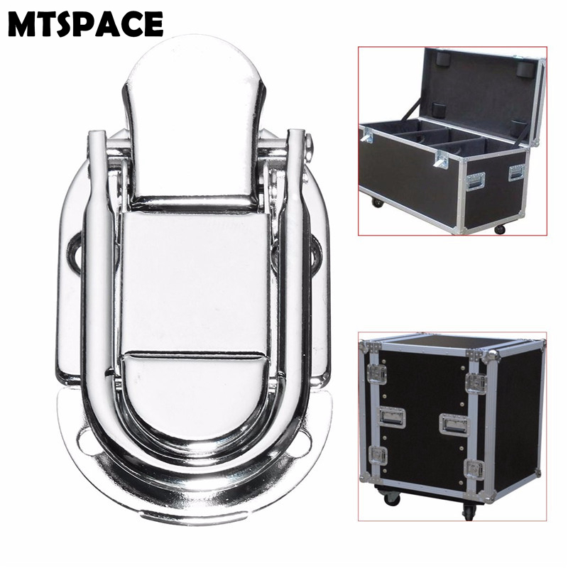 MTSPACE Luggage Guitar Musical Trolley Flight Case Button Knot Drawbolt Closure Latch For Gift Box Wooden Boxes Air Iron Silver